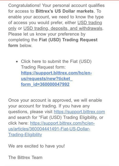 Bittrex Торговля на рынке США